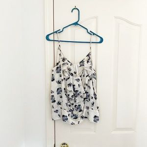 LC Lauren Conrad Floral Print Sleeveless Blouse